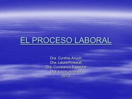 el proceso laboral - Sitio Web de la Escuela de la Magistratura del