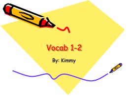 Vocab 1-2 - Hurlbert-CHS