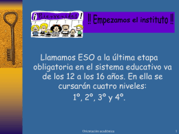 1º de E.S.O. - IES Infante don Fadrique