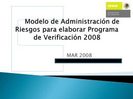 MODELO DE ADMINISTRACIÓN DE RIESGOS.