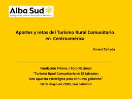 """""""Aportes y retos del Turismo Rural Comunitario en"""