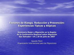 Diapositivas - Conferencia Regional sobre Migración