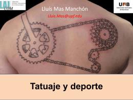 Lluís Mas:Deporte y tatuaje
