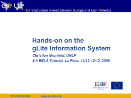 IST-2006-026409 - EELA Documents