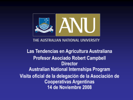 ANU Rob Campbell`s Argentine Presentation - Spanish1