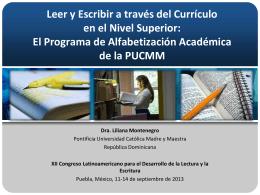 Ponencia Alfabetización Académica, Puebla 2013