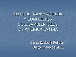 mineria_ALquito - Instituto de Estudios Ecologistas del Tercer