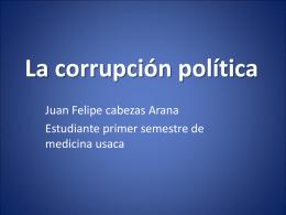 LA CORRUPCION POLITICA