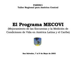 El Programa MECOVI
