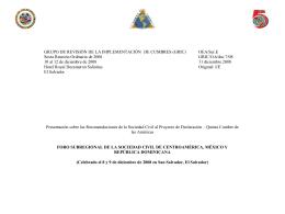 Foro subregional de Centroamérica, México y República Dominicana