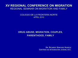 Diapositiva 1 - Regional Conference on Migration Virtual Secretariat