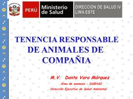 TENENCIA RESPONSABLE - (DISA) IV Lima Este