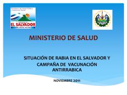 presentación MINSAL El Salvador final dos