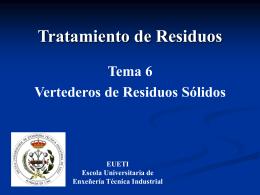 Vertederos - Escuela Universitaria de Ingeniería Técnica Industrial