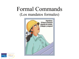 CH10_1. Formal commands