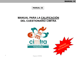 Manual de Calificación CIMTRA