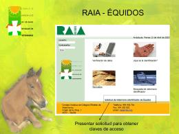 RAIA - ÉQUIDOS - Colegio Veterinarios Cádiz