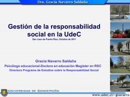 Gestión de la responsabilidad social en la UdeC