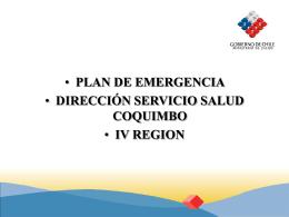 plan direccion simul.. - Servicio de Salud Coquimbo