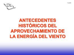 Antecedentes históricos del aprovechamiento de la EnergÃa del