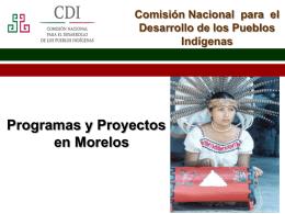 Presentación Comision Nacional pafra el Desarrollo de los Pueblos