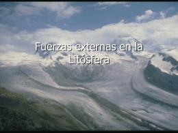 Fuerzas externas en la Litósfera
