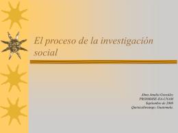 El proceso de la investigación social Alma Amalia González