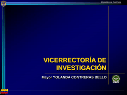 vicerrectoria de investigacion