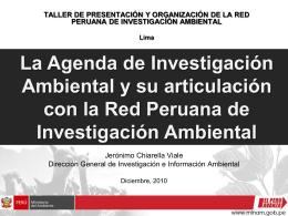 la agenda de investigación ambiental