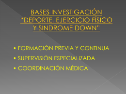 """bases investigación """"deporte, ejercicio físico y"""