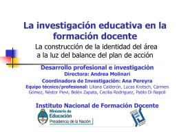 Área de investigación - Repositorio Institucional del Ministerio de