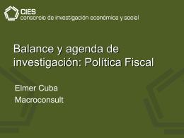 finanzas públicas - Consorcio de Investigación Económica y Social