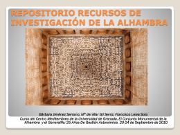 REPOSITORIO RECURSOS DE INVESTIGACIÓN DE LA ALHAMBRA