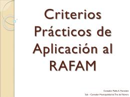 Criterios Prácticos de Aplicación al RAFAM