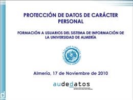 Formación LOPD Audedatos-Universidad de Almería