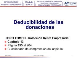 13 Deducibilidad de las donaciones