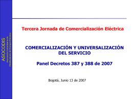 Asocodis PanelCAC Decretos 387 y 388 Junio 13 07 SinMME