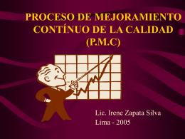 PROCESO DE MEJORAMIENTO CONTÍNUO DE LA CALIDAD