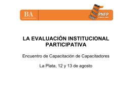 Evaluación Institucional Participativa