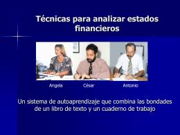 Técnicas para analizar estados financieros