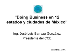 """Doing Business en 12 estados y ciudades de México"""