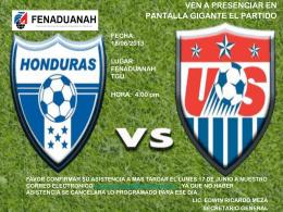 HONDURAS VRS. ESTADOS UNIDOS