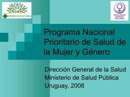 Programa nacional prioritario de salud de la mujer y
