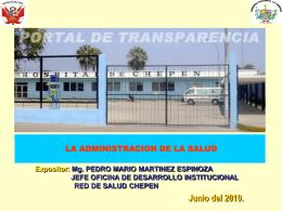 Diapositiva 1 - RED SALUD CHEPEN