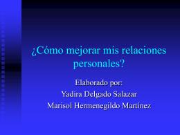 ¿Cómo mejorar mis relaciones personales?