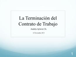 La Terminación del Contrato de Trabajo