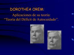 Dorothea Orem - Enfermería 21