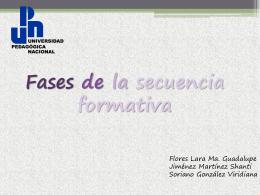 Fases de la secuencia formativa - upn-243