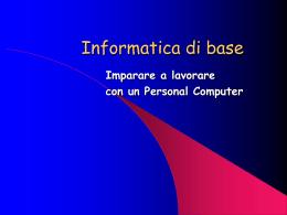 Informatica di base: imparare a lavorare con il computer