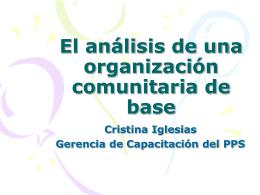 El análisis de una organización comunitaria de base